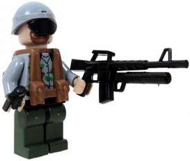 COBI Blocks LOOSE Minifigure Soldier in Gray Camouflage Toros with Assault Rifle & Hand Grenade BLOWOUT SALE!