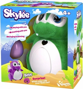 Skylee Interactive Robot Lovable Dragon [1 Bebe Surprise Egg & Eggshell] {Green}