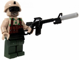 COBI Blocks LOOSE Minifigure Soldier in Tan Camouflage Toros with Assault Rifle with Silencer, Helmet with Range Finder OR Flashlight BLOWOUT SALE!