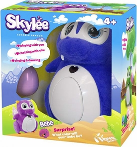 Skylee Interactive Robot Lovable Dragon [1 Bebe Surprise Egg & Eggshell] {Purple}