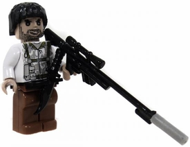 COBI Blocks LOOSE Minifigure Sniper in White Camo Jacket with Rifle with Flash Suppressor & Combat Knife BLOWOUT SALE!