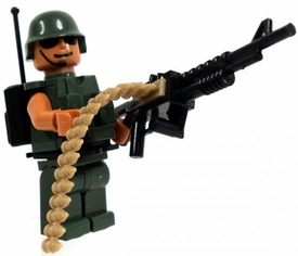 COBI Blocks LOOSE Minifigure Heavy Machine Gunner / Radio Operator [Green Uniform] BLOWOUT SALE!