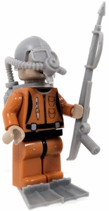 COBI Blocks LOOSE Minifigure Frogman in Tan Dive Suit with Spear Gun, Flippers & Oxygen Tanks BLOWOUT SALE!