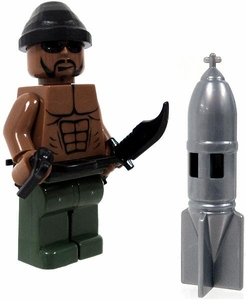 COBI Blocks LOOSE Minifigure Bare Chested Artillery Crewman with Hand Grenade, Combat Knife & Shell BLOWOUT SALE!