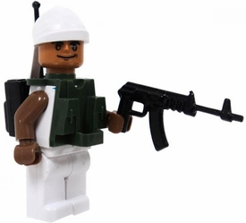 COBI Blocks LOOSE Minifigure Naval Crewman with Vest, Radio & Light Machine Gun [White Uniform] BLOWOUT SALE!