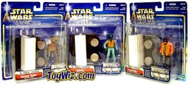 Star Wars Saga 2002 A New Hope WalMart Exclusive 3 Piece Cantina Set