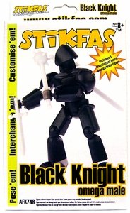 Stikfas Action Figure Kit Omega Male Black Knight
