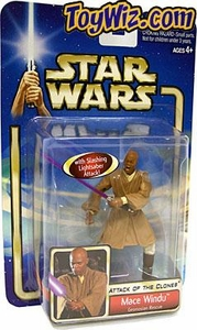Star Wars Saga 2002 Collection 1 Attack of The Clones #28 Mace Windu [Geonosian Rescue]