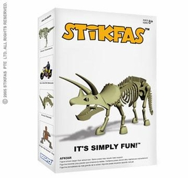 Stikfas Action Figure Kit Triceratops Dinosaur