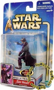 Star Wars Saga 2002 Attack of The Clones Zam Wesell Bounty Hunter