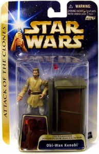 Star Wars Saga 2004 Attack of the Clones #39 Obi-Wan Kenobi [Outlander Nightclub Encounter] [Damaged Card, Mint Contents]