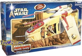 Star Wars Saga 2002 Attack of the Clones Republic Gunship