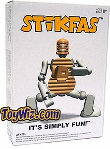 Stikfas G2 Generation 2 Alpha Male Action Figure Kit Baseball Player WHITE