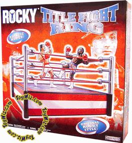 Jakks Pacific Rocky I Title Fight Boxing Ring [Blue Ring with Stars & Red Ropes]
