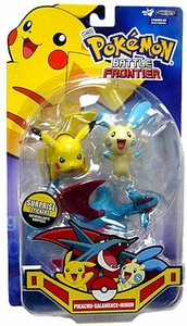 Pokemon Jakks Pacific Battle Frontier Series 2 Basic Figure 3-Pack Pikachu, Minun & Salamence