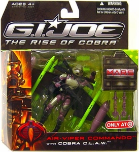 GI Joe Movie The Rise of Cobra Exclusive M.A.R.S. Troopers Action Figure Air-Viper Commando with Cobra C.L.A.W.