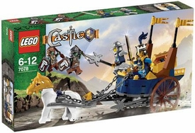 LEGO Castle Set #7078 King's Battle Chariot Damaged Package, Mint Contents!