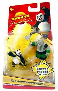 Kung Fu Panda Movie Mini Figure 2-Pack Po & Rhino Commander