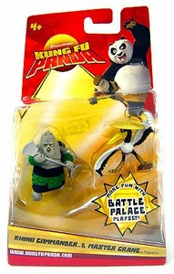 Kung Fu Panda Movie Mini Figure 2-Pack Rhino Commander & Master Crane