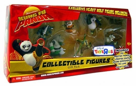 Kung Fu Panda Movie Collectible 6 Piece Mini Figure Gift Pack [Exclusive Heavy Wolf Figure!]