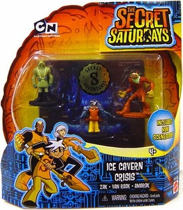 The Secret Saturdays Micro Figure 3-Pack Ice Cavern Crisis