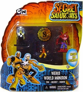The Secret Saturdays Micro Figure 3-Pack Weird World Mansion