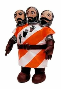 Monty Python Toy Vault 9 Inch Plush 3 Headed Knight