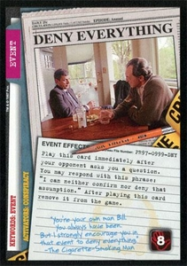 The X-Files Collectible Card Game Single Card Promo PR97-0999-DNY Deny Everything