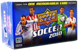 Upper Deck Soccer 2010 Blaster Box [20 Booster Packs] 1 Memorabilia Card Per Box!