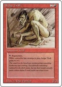 Magic the Gathering Revised Edition Single Card Rare Sedge Troll