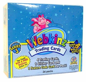 Webkinz Trading Cards Series 3 Booster BOX [36 Packs] Look for the Magical Retriever!