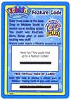 Webkinz Trading Card Game SINGLE Feature Code Card (Contains 1 Redemption Code)