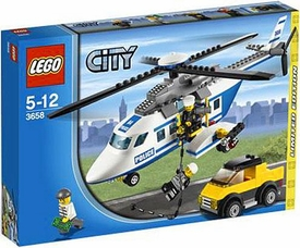 LEGO City Exclusive Set #3658 Police Helicopter