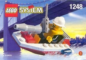 LEGO City Mini Figure Set #1248 Fire Boat