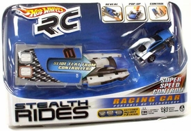 Hot Wheels Stealth Rides 1:64 Scale Mini R/C Racing Car BLUE