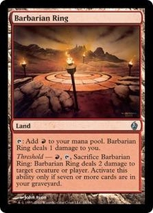 Magic the Gathering Premium Deck Series: Fire and Lightning Single Card Uncommon #28 Barbarian Ring