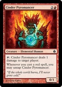 Magic the Gathering Premium Deck Series: Fire and Lightning Single Card Common #9 Cinder Pyromancer