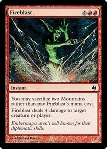 Magic the Gathering Premium Deck Series: Fire and Lightning Single Card Common #26 Fireblast