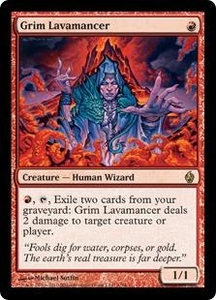 Magic the Gathering Premium Deck Series: Fire and Lightning Single Card Rare #1 Grim Lavamancer