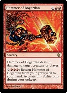Magic the Gathering Premium Deck Series: Fire and Lightning Single Card Rare #23 Hammer of Bogardan