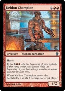 Magic the Gathering Premium Deck Series: Fire and Lightning Single Card Uncommon #14 Keldon Champion