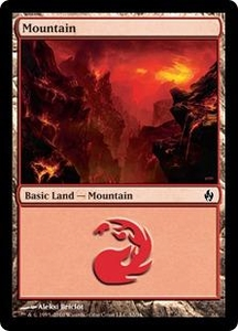 Magic the Gathering Premium Deck Series: Fire and Lightning Single Card Land #31 Mountain [Random Artwork]