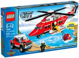 LEGO City Set #7206 Fire Helicopter