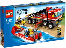 LEGO City Exclusive Set #7213 Off-Road Fire Truck & Fireboat