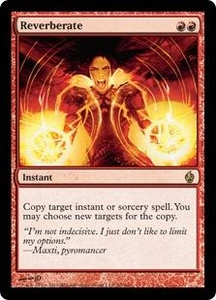 Magic the Gathering Premium Deck Series: Fire and Lightning Single Card Rare #20 Reverberate