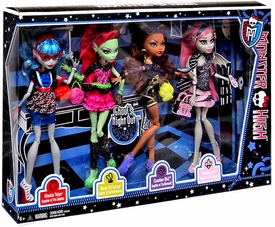 Monster High Ghoul's Night Out Doll 4-Pack [Ghoulia Yelps, Venus McFlytrap, Clawdeen Wolf & Rochelle Goyle]