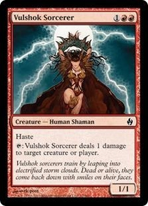 Magic the Gathering Premium Deck Series: Fire and Lightning Single Card Common #11 Vulshok Sorcerer