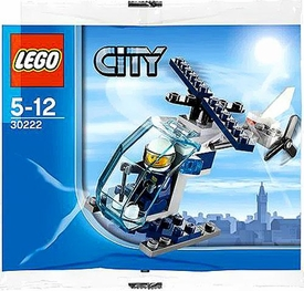 LEGO City Set #30222 Police Helicopter [Bagged]