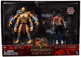 Mortal Kombat 20th Anniversary 5 Inch Action Figure 2-Pack Goro's Lair [Goro & Battle Damaged Johnny Cage]