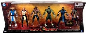 Mortal Kombat 20th Anniversary 5 Inch Action Figure 6-Pack Raiden, Baraka, Night Wolf, Reptile Sub-Zero & Scorpion
